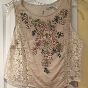 Urban Outfitters embroidered crop top